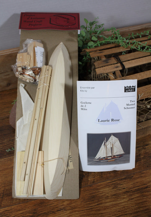 Laurie Rose Wooden Boat Model Kit