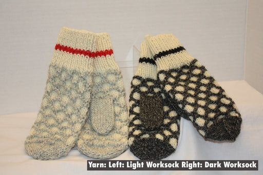 Work Sock Stained Glass Mittens
