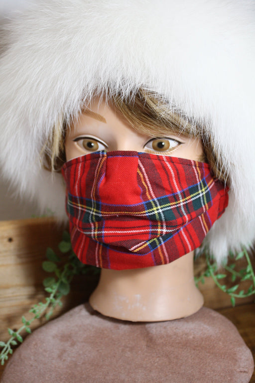 Tartan Pleated Mask