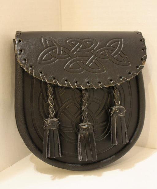 Leather Sporran with Tassels