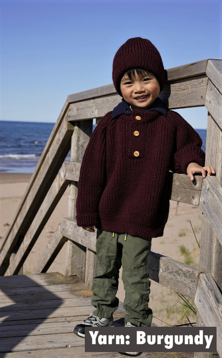 T1 - Childs Three Button Pullover