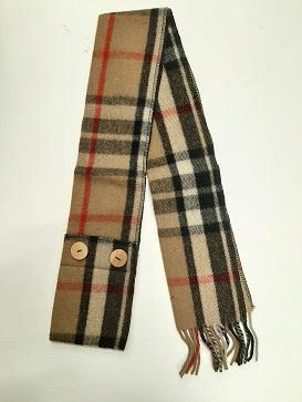 Thompson Camel Button Scarves