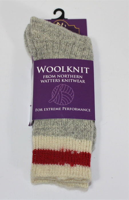 Work Sock Mid Calf Wool Knit Socks