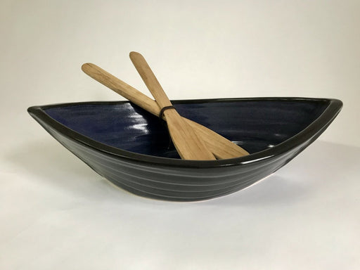 Dory Bowl & Wooden Paddle Salad Servers