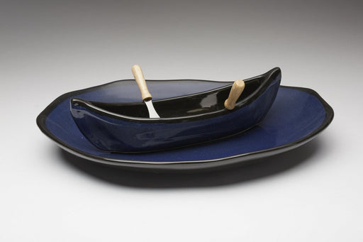Canoe on a Lake Dip Pot