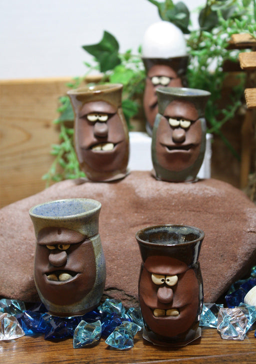 Faces Shot Glasses/Egg Holders