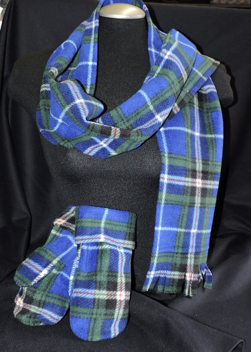 Tartan Fringed Fleece Scarf
