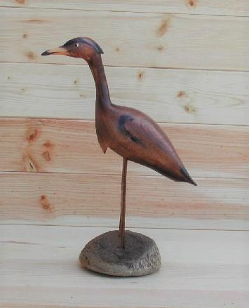 Small Standing Heron - Burnt