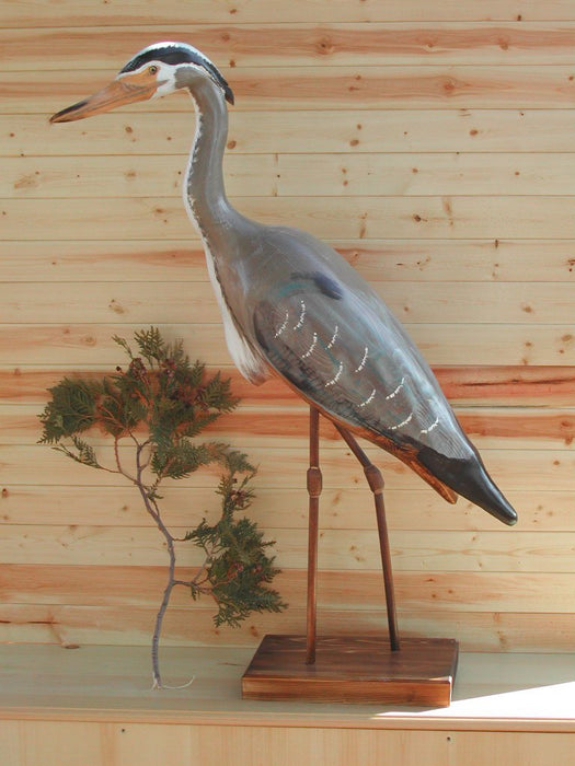 Large Standing Heron - Painted