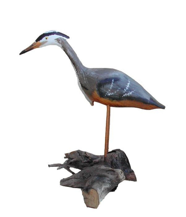 Small Standing Heron - Painted