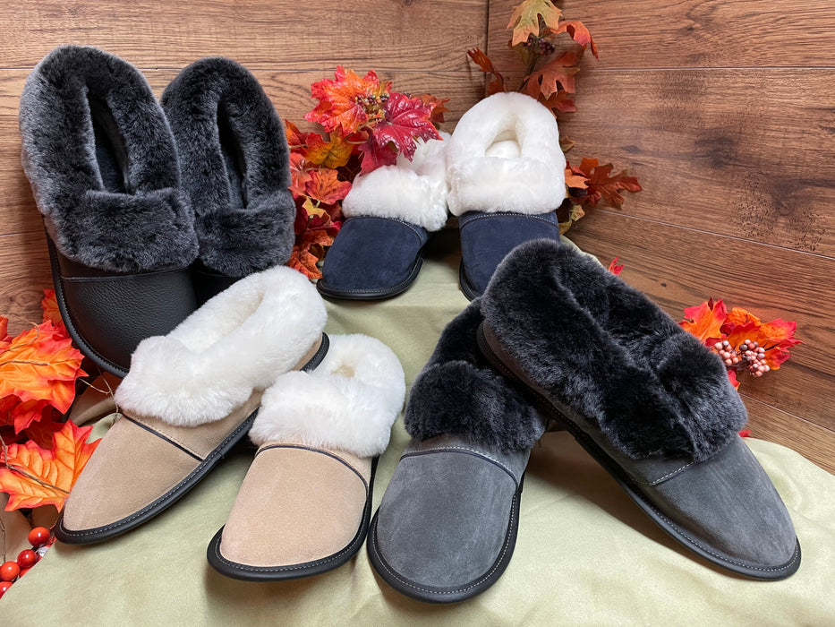 Mens Sheepskin Full Back Slippers