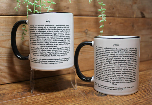 Irish Family Name Coffee Mugs