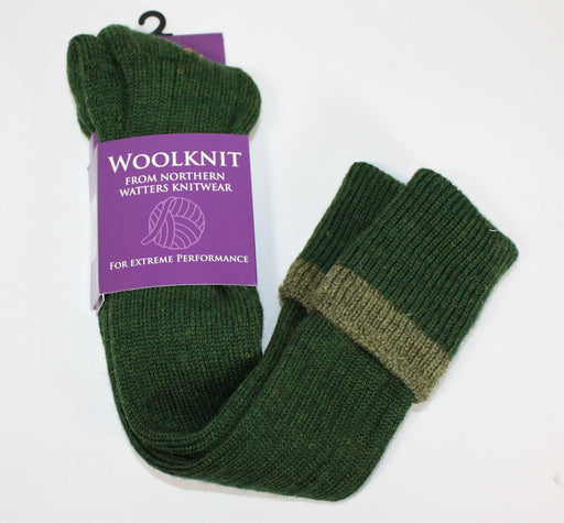 Celtic Knee Wool Knit Socks