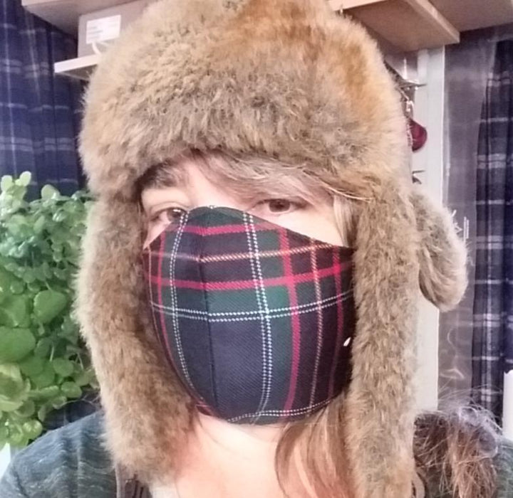 Tartan Fitted Mask