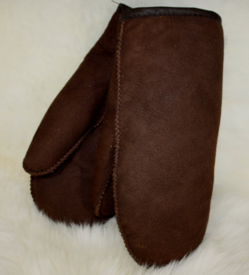 Mens Sheepskin Mitts - Chocolate