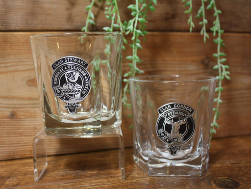 Scottish Clan Crested Rocks Glasses