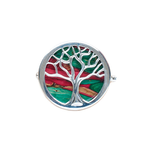 Tree of Life Silver Brooch