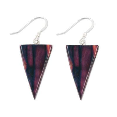 Triangle Sterling Silver Drop Earrings