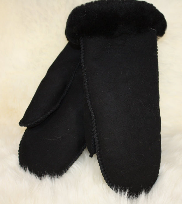 Womens Sheepskin Mitts - Black