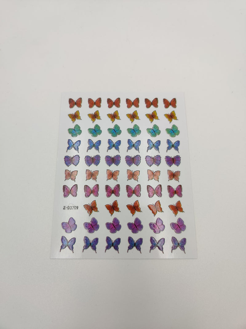 Multi-colored Butterfly Stickers