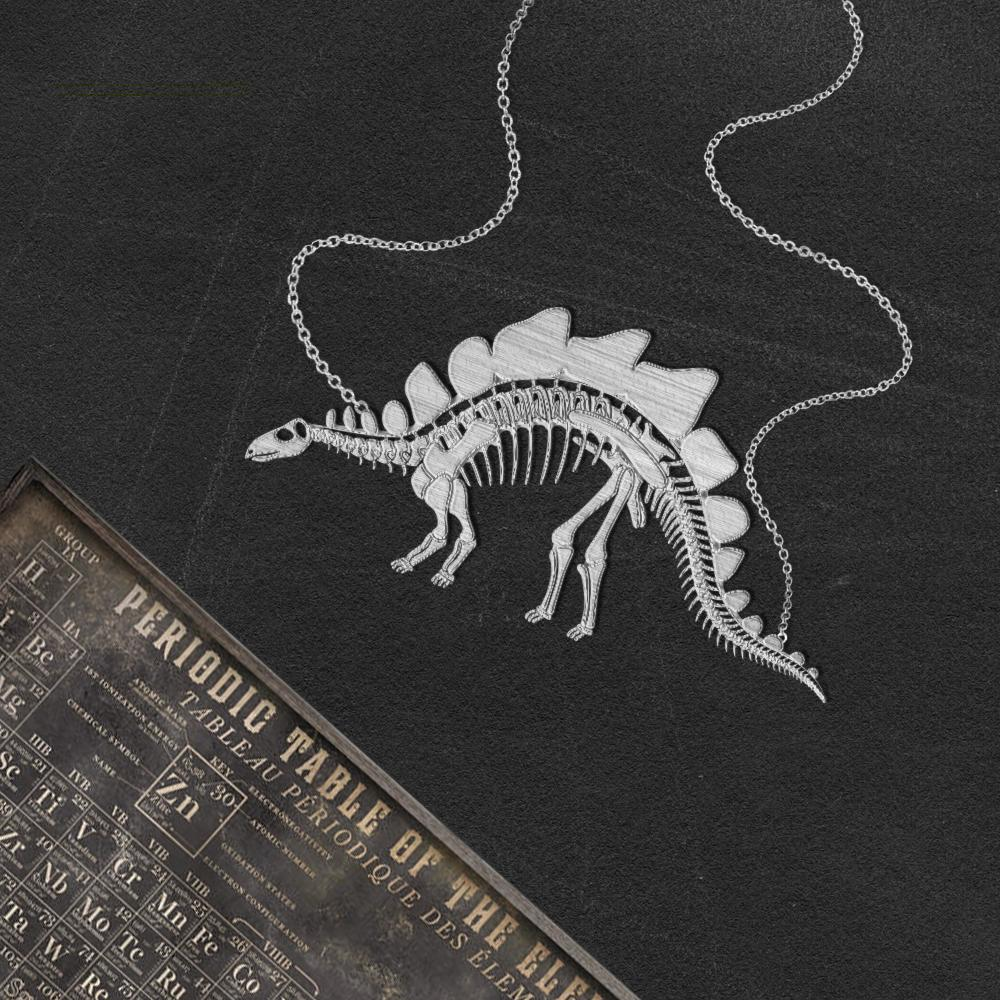 Stegosaurus Skeleton Necklace