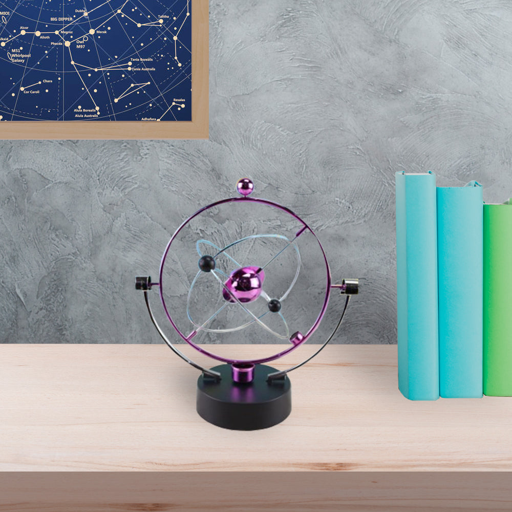 Kinetic Orbital Solar System Desk Gadget | Purple
