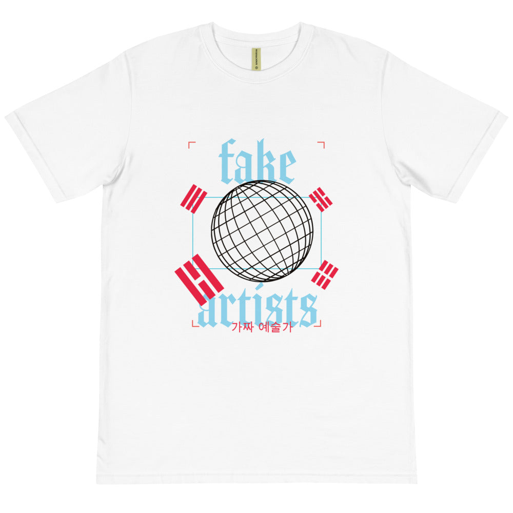 Abstract Korean T-Shirt - Fake Artists