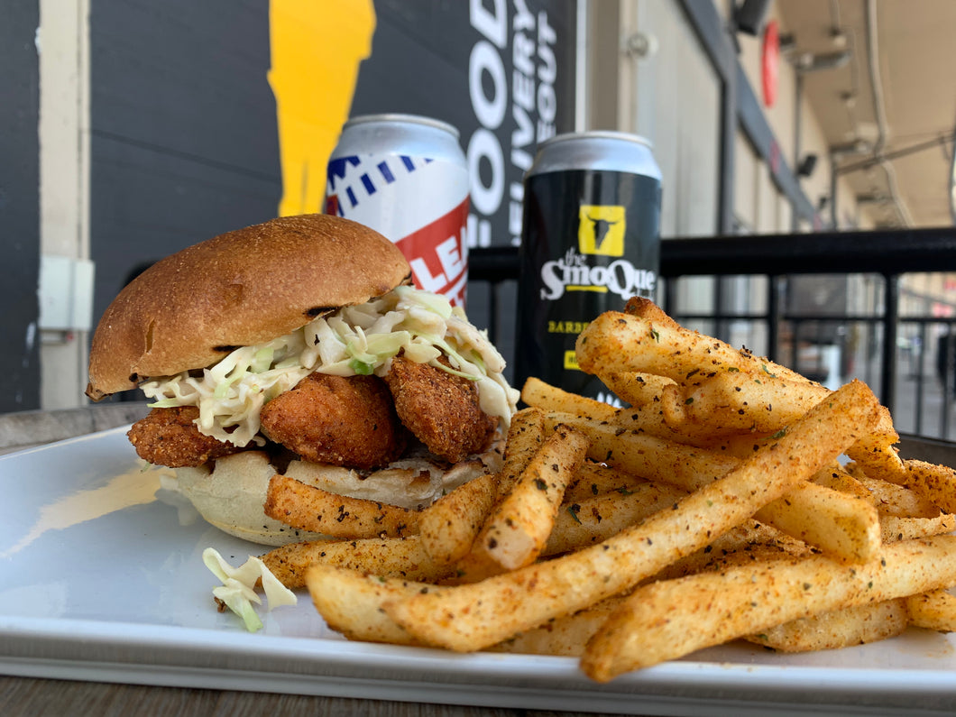 Nashville Hot Chicken Sandwich Combo and BTP Beer