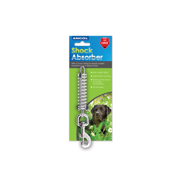 Ancol Dog walking Lead Shock absorbing lead spring Anti Strain Avoid Jarring