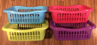 4 X Small Size Storage Baskets Plastic 4 Colours 24 X 16.5 X 8 cm or 1 of Each