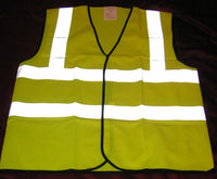 Large Yellow High Visibility High Viz Vis Vest Waistcoat