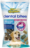MUNCH CRUNCH DENTAL BITES DOG TREATS  ANTI TARTAR 1,2,4 X 180gm