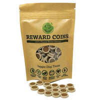 Peanut Butter Flavoured Vegan Dog Treat Reward Coins Xylitol free