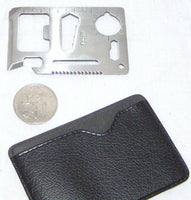 CREDIT CARD WALLET PURSE POCKET SURVIVAL MULTI-TOOL 11 FUNCTIONS