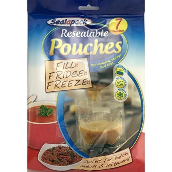Pour and Store Bags Free Standing Resealable Fridge Freezer Food bags