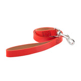 ANCOL HERITAGE LEATHER LEAD TAN, RED OR BLACK 1M X 19MM