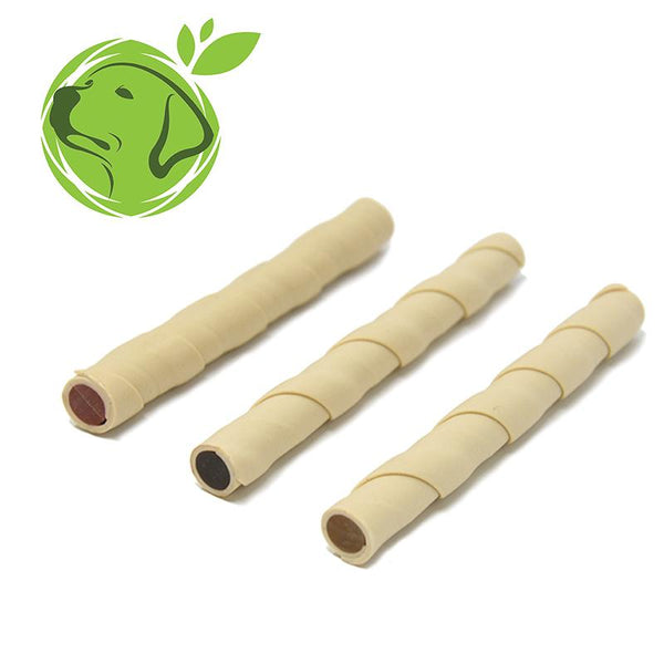 6 X Vegan Twisty Sticks Vegetarian Dog Treats 3 Flavours Gluten Grain & Sugar Free