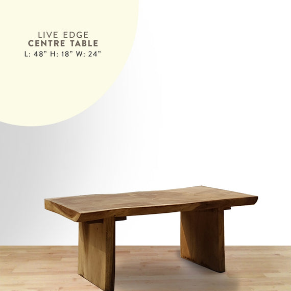 Live edge centre table