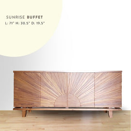 Sunrise buffet, sunrise buffet on wood