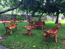 Teak Garden Bench primitive