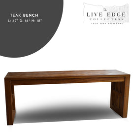 Dining bench Slatted - 4 ft