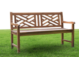 Outdoor Bench Teak 2 seater
