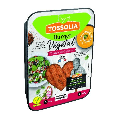 Steak Vegetal Tomate Oignon 2x90g Tossolia