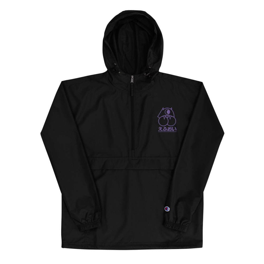Embroidered Champion Packable Jacket x TM Japanese Logo