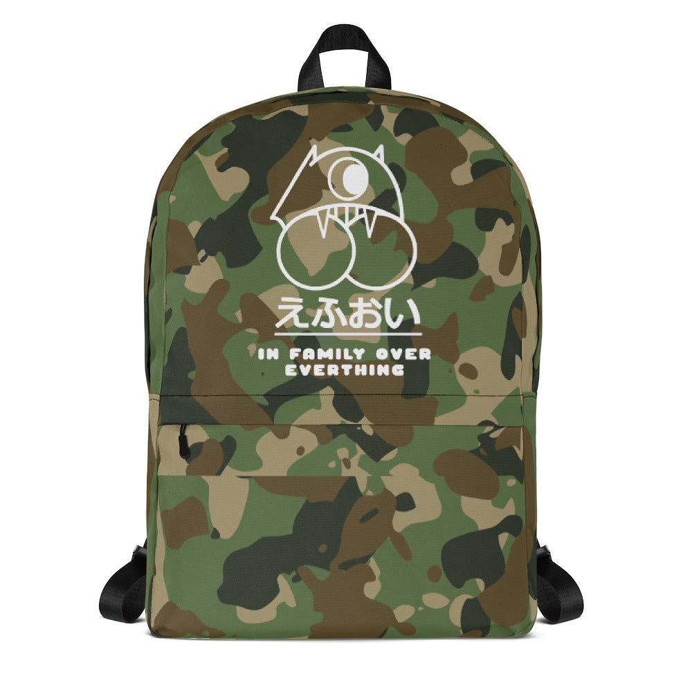 I.N.F.O.E Japanese Logo Military Backpack