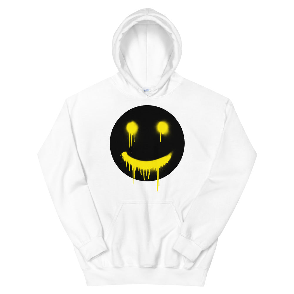 Black Smiley Drips Hoodie