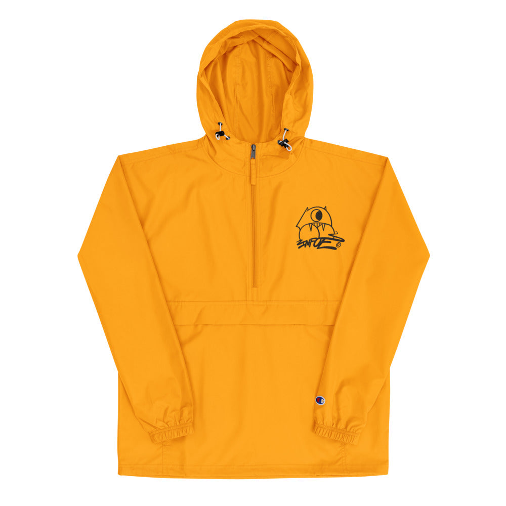 Embroidered Champion Packable Jacket x Infoe Logo