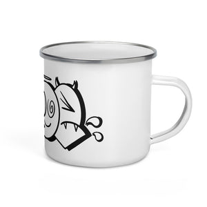 Enamel Mug Infoe Throw Up