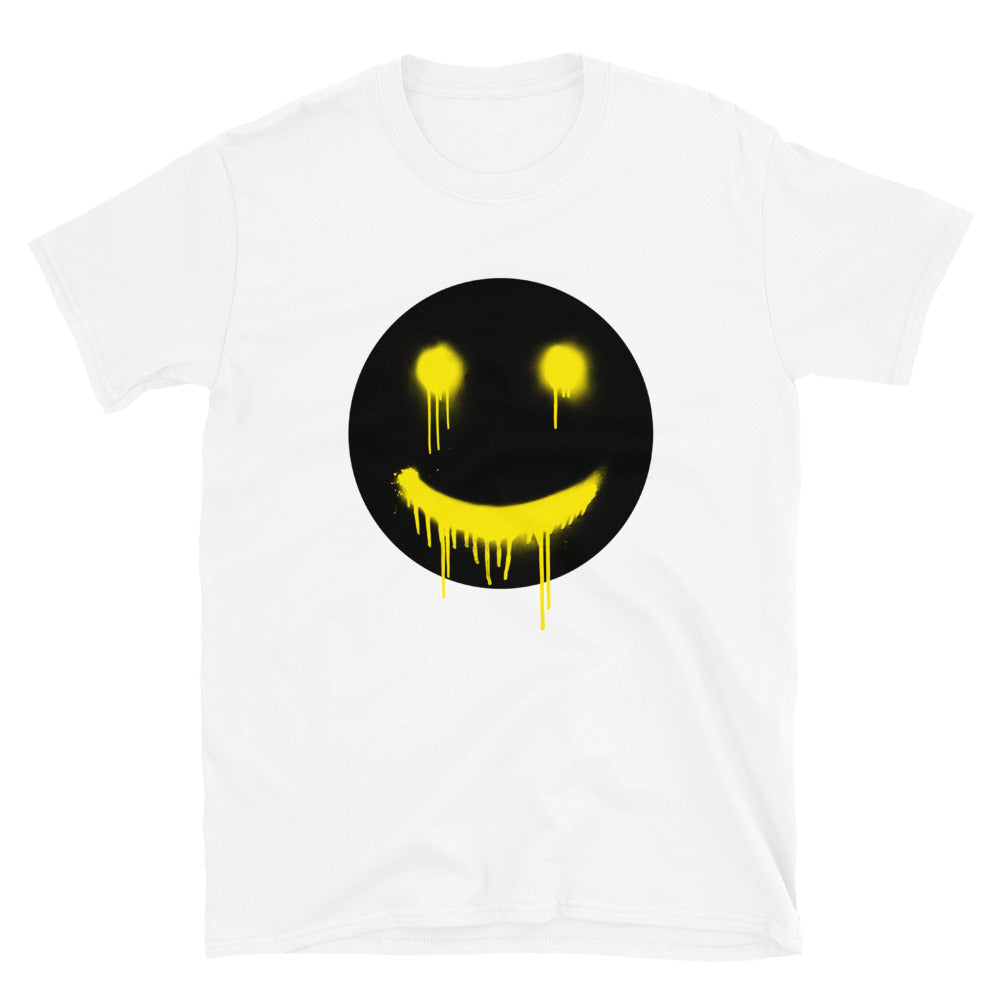 Black Smiley Drips T-Shirt