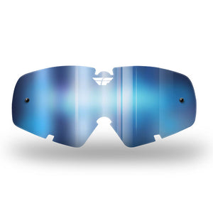 FLY ZONE/FOCUS GOGGLE LENS '18 YTH BLU MIRROR/ SMO